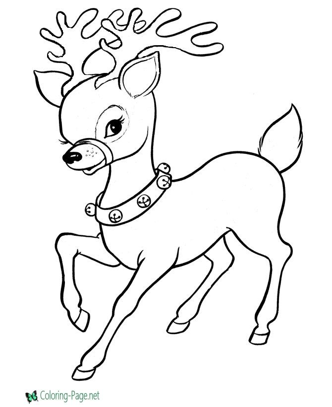 Christmas Coloring Pages Reindeer Coloring Page Christmas