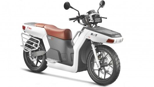Hero's RNT offers utility transport for the developing world plus some ingenious benefits beyond just mobility. Its 13.5 hp 150cc diesel engine has an optional turbo. There's an electric motor up front, a 1500 W, 230 V generator, the LED headlight unclips to offer a portable light, and much more ...