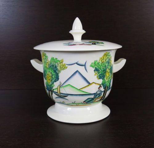 Zuppiera in ceramica Art Deco Guido Andlovitz Laveno
