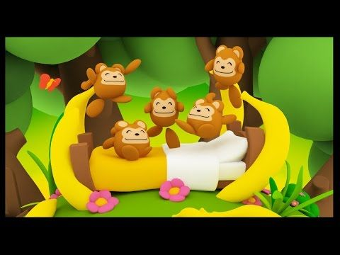 Le Journal de Nounou Sophie: Cinq petits singes