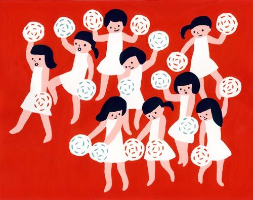 sato kanae: Illustrations Art, Sato Kana, Art Illustrations, Cheerleading Illustrations, Japsn Illustrationsdesign, Kana Sato, Japan Illustrations, Illustrations Style, Illustrations Sato