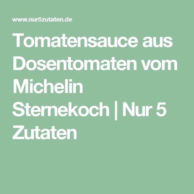 Tomatensauce aus Dosentomaten vom Michelin Sternekoch | Nur 5 Zutaten