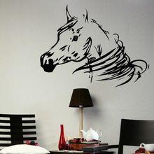 paardenhoofd muursticker thuis sticker vinyl kunst aan de muur sticker behang(China (Mainland))