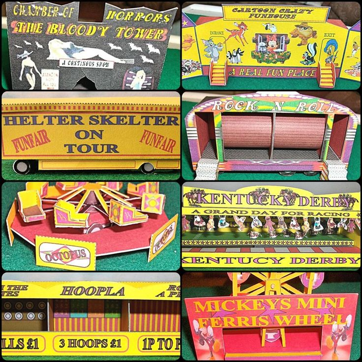 Various  OO  Scale Card Model FAIRGROUND Kits - model railway/OO scale/funfair,