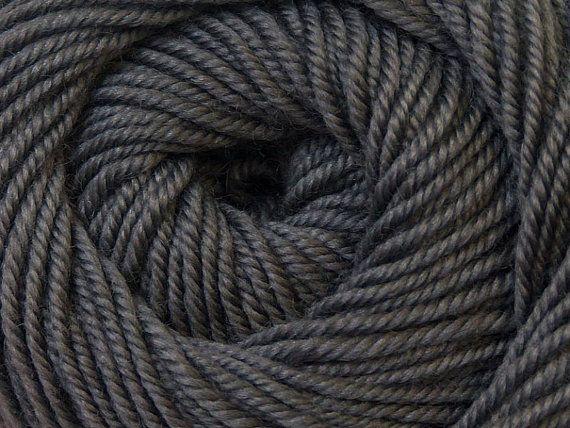 Knit Yarn Wool DeLuxe Dark Grey 100 wool knit by specialyarnshop, $8.90