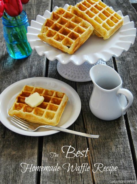The BEST Homemade Waffle Recipe by Gallamore West for Tatertots and Jello
