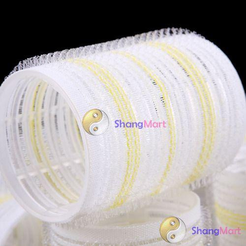 Shangmart grande Velcro Cling rolos rolos de cabelo estilo Salon cuidados DIY fazendo ferramenta mais barato alishoppbrasil