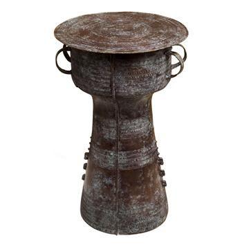 Antique Bronze Reproduction 22 D Thai Rain Drum Table Antiques Drums And Rain