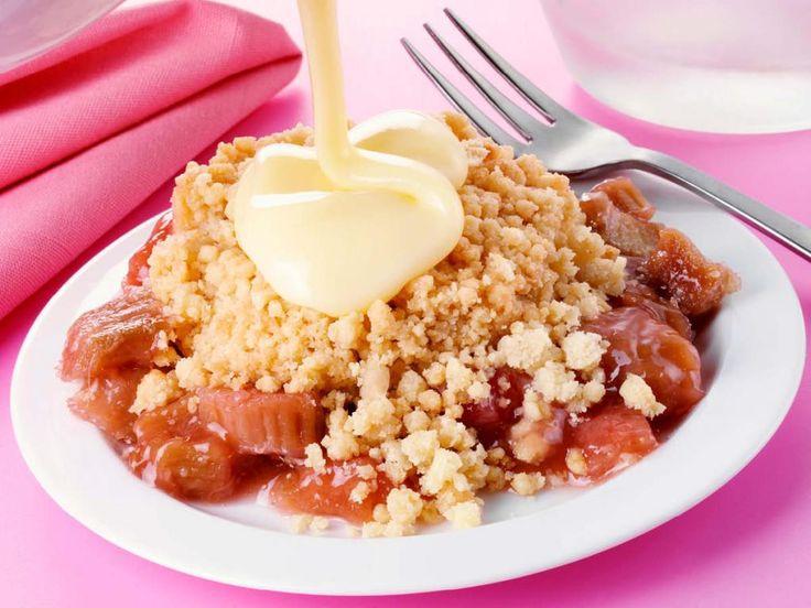 Rhabarber Crumble | dolci | Pinterest | Desserts, Rhubarb ...