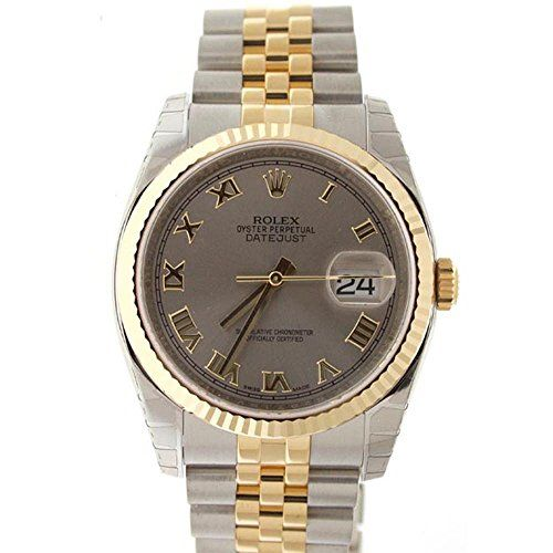 Rolex Datejust 36mm Steel Dial Fluted Watch 116233 -- Read more  at the image link.