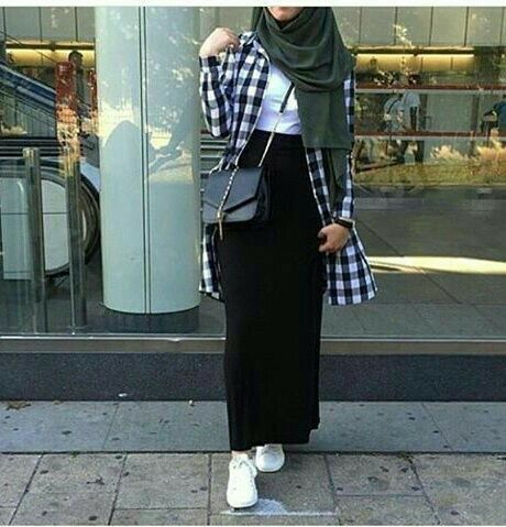 Hijab maxi skirt  #hijabfashion #myhijab