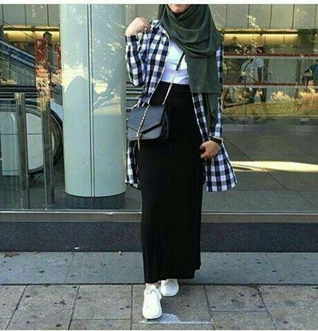 Hijab maxi skirt  #hijabfashion #myhijab