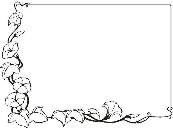 M s de 25 ideas incre bles sobre hojas para colorear en - Marcos de fotos para pintar ...
