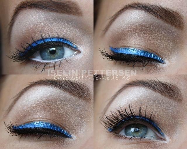 Super pretty blue eye shadow look Well eyeliner.......