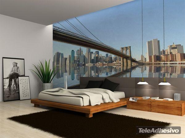 Fotomurales brooklyn ii vinilos para dormitorios for Murales salon modernos