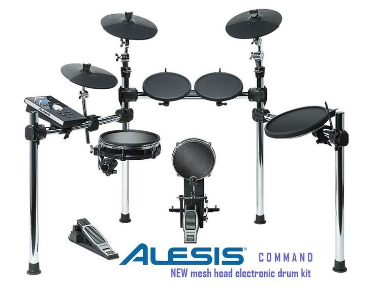 Alesis Command Kit Eight-Piece Electronic Drum Set with Mesh Snare and Kick #Alesis