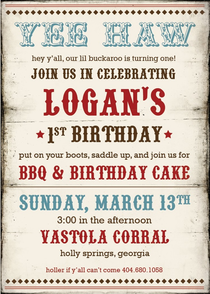 41 best Cowboy Birthday Party Ideas images on Pinterest ...