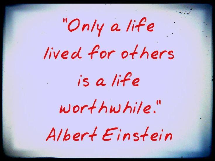 """#QuoteoftheWeek: """"Only a life lived for others is a life ..."""