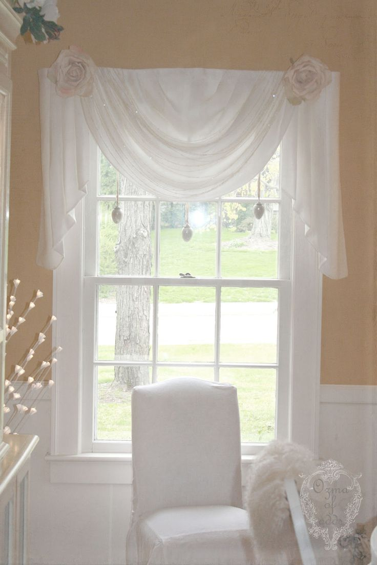 Shabby dream....love this window treatment.