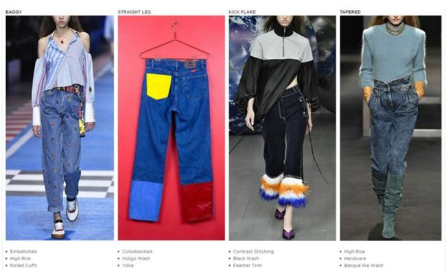 Jeans Trends 2020.Women S 2020 Denim Trends In 2019 Denim Trends Denim Fashion