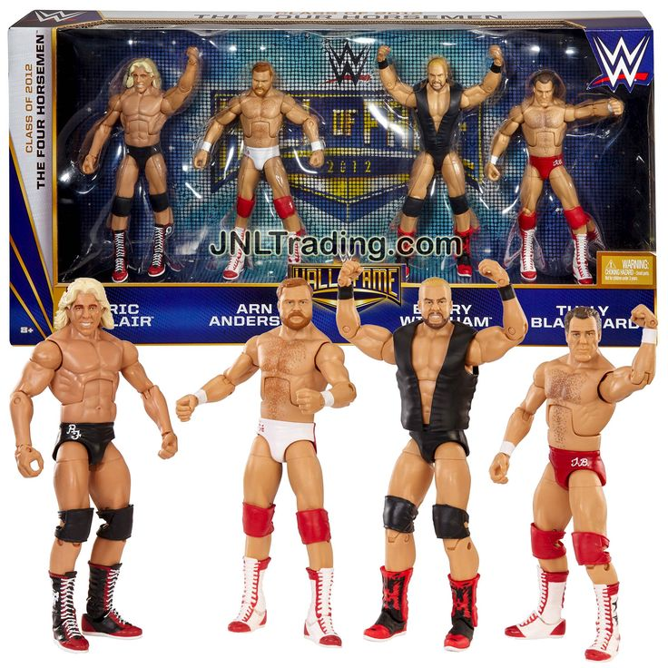 Mattel WWE Hall of Fame Series 4 Pack 7 Inch Tall Figure - Class of 2012 THE FOUR HORSEMEN - RIC FLAIR, ARN ANDERSON, BARRY WINDHAM & TULLY BLANCHARD