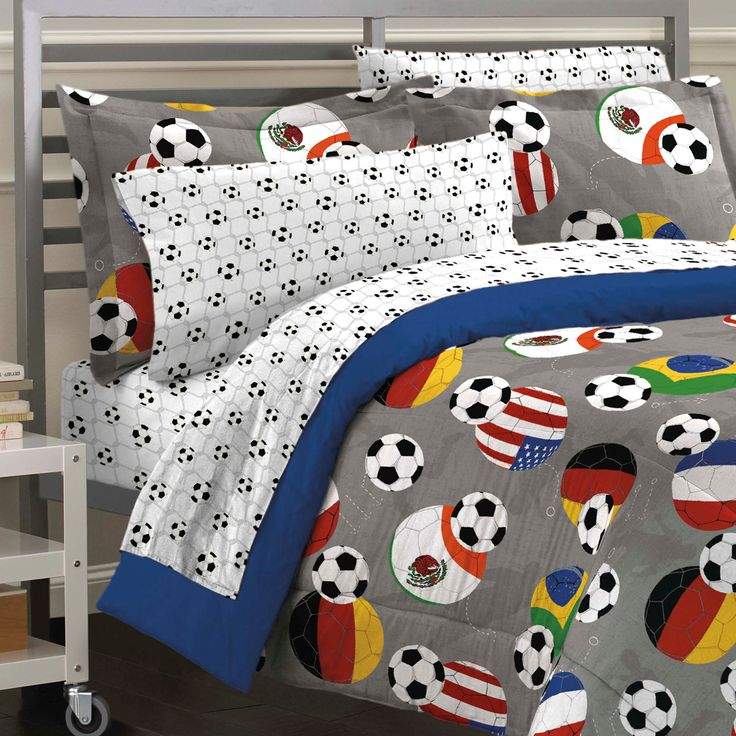 USA & World Soccer Bedding Twin Full Queen Comforter Set