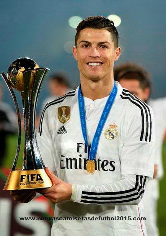 Real Madrid Mundial de Campeones Camiseta  - Clubes campeones del mundo Camiseta con insignia 2014-2015   El Real Madrid se ha proclamado ca...