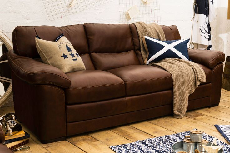 Senna Leather 3-Seater Sofa | Ireland