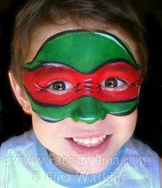 ninja turtle face paint
