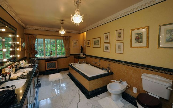 Just one of Michael Winner's bathroom 7 luxury bathrooms