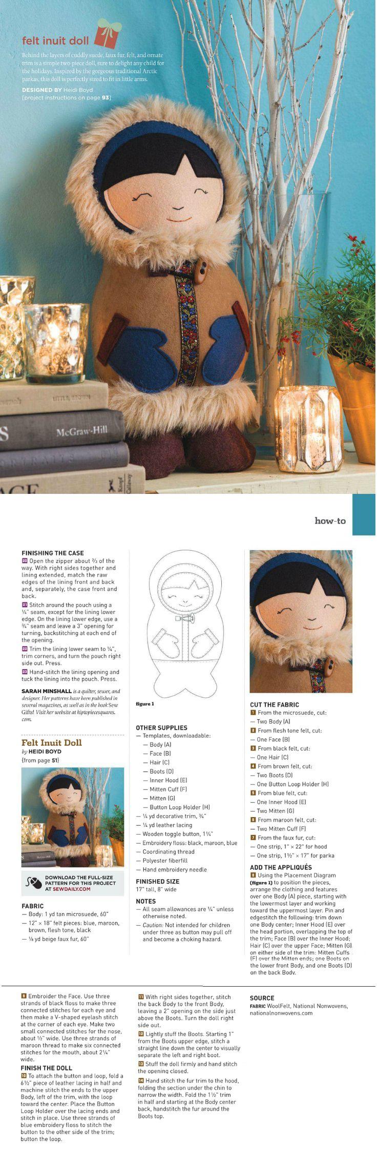 Felt Inuit Doll