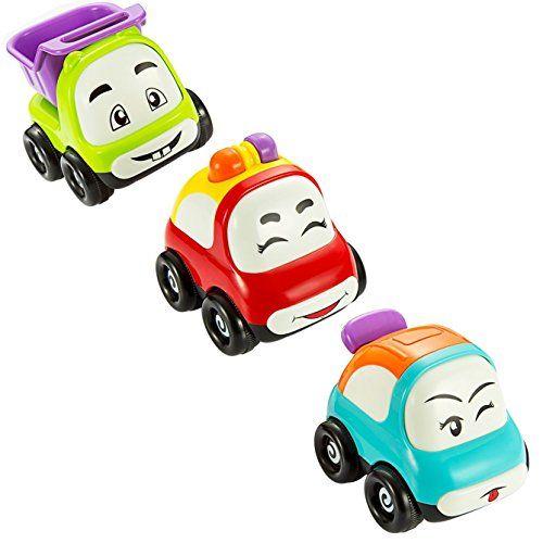 Jouet Voiture, Pictek Véhicule Miniature Mignon à Friction Camion Jouet Bébé Lot de 3 pour Enfants de 18 Mois à 3 Ans, CADEAU IDÉAL POUR…