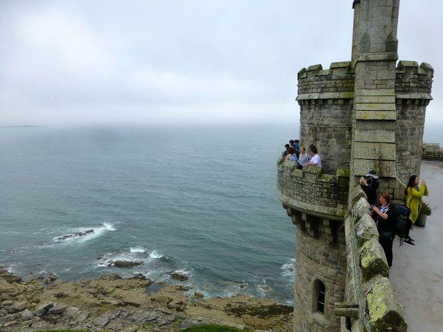 MARAZION:  The castle's terrace lookout on St. Michael's Mount, Cornwall https://destinationfiction.blogspot.ca/2016/10/coastal-marvels-of-cornwall.html