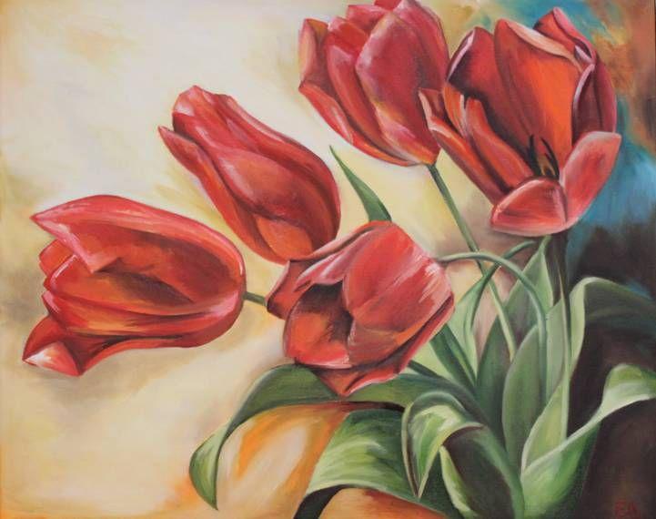 tulipes à l'huile