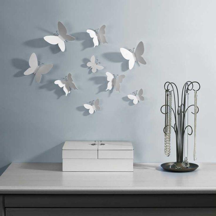 Väggdekor - Mariposa, Fjärilar (9-pack)