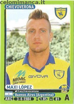 Calciatori 2014-2015: Fronte Figurina n. 103 Maxi López