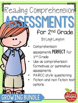 2nd grade Reading Comprehension Assessments. Perfect for progress monitor students growth in reading!