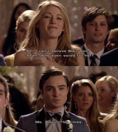 Imagem de gossip girl, chuck bass, and blair waldorf