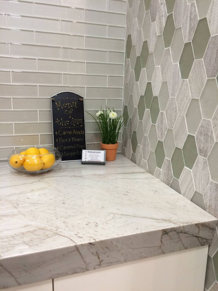 Check Out This Beautiful Countertop And Tile Design By Bedrosians