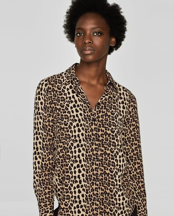 c9179ad8 Image 3 of ANIMAL PRINT BLOUSE WITH LACE from Zara | A N I M A L ...