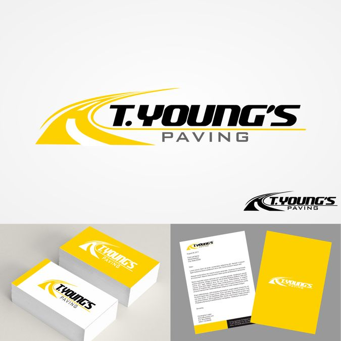 Create a logo for an asphalt paving company by #Oranyono