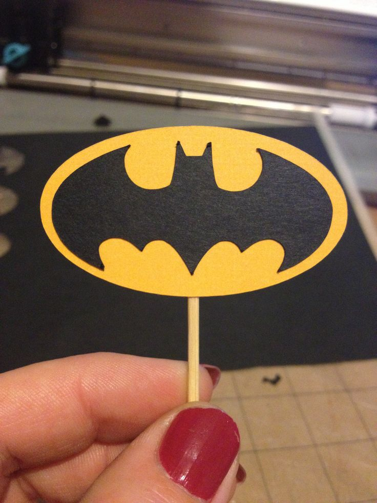 Batman cupcake toppers I made using silhouette.