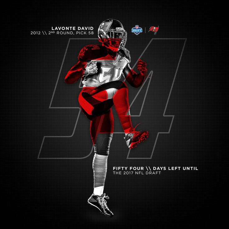 2017 Bucs Countdown to the draft Social Graphics on Behance