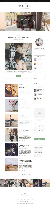 Portada is an elegant responsive #WordPress #blog theme for writer, #lifestyle and fashion bloggers websites download now➩ https://themeforest.net/item/portada-elegant-wordpress-blogging-theme/19032008?ref=Datasata