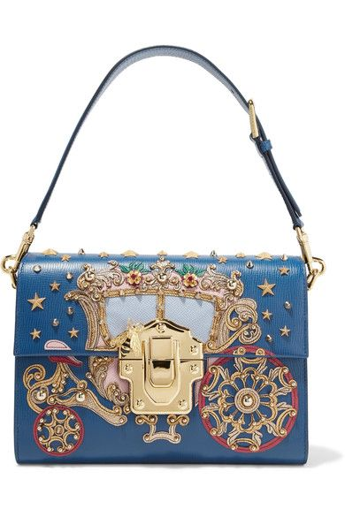 Multicolored lizard-effect leather (Calf, Lamb) Flip lock-fastening front flap Designer color: Blu Marino Comes with dust bag  Weighs approximately 2.2lbs/ 1kg Made in Italy