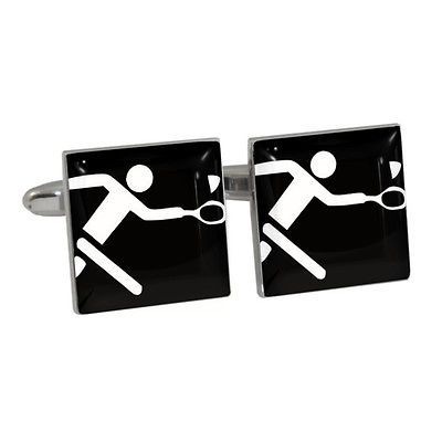 #Badminton olympic sign cufflinks gift boxed #raquets shuttlecock sport #symbol n,  View more on the LINK: http://www.zeppy.io/product/gb/2/400702891099/