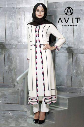 creamy dress tunic hijab- Avit hijab Ramadan collection http://www.justtrendygirls.com/avit-hijab-ramadan-collection/