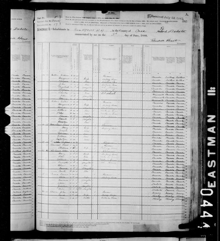 Mary Marchand - 1880 Recensement fédéral des Etats-Unis - MyHeritage
