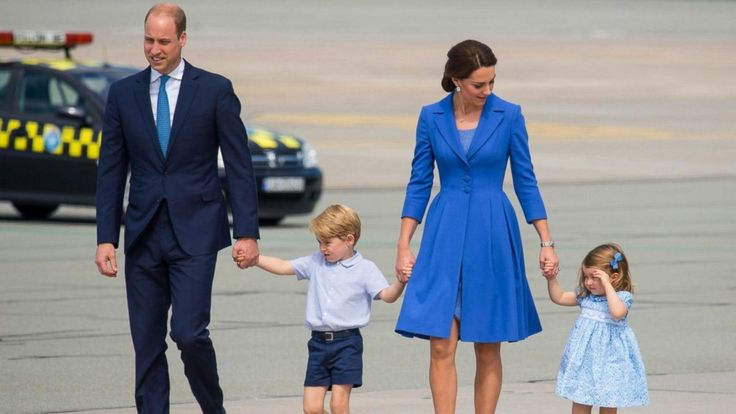 Princess Charlotte steals the show with a curtsy as royal family arrives in Berlin   Prince William, Princess Kate and their children, Prince George and Princess Charlotte, arrived in Berlin today on the second leg of their five-day tour of Poland and Germany.Princess Charlotte steps out in Prince Harry's red shoes from 1986Prince William, Princess Kate pay somber visit to concentration