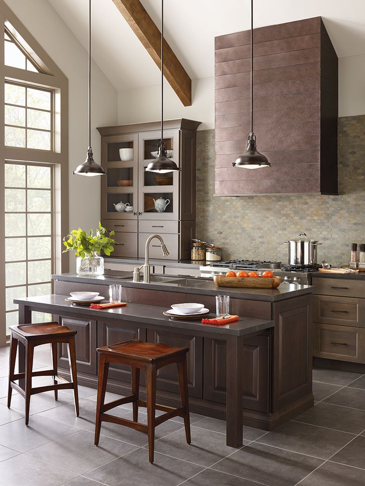 Industrial-inspired lighting designs make a statement above a kitchen island   Image featuring Progress & 41 best Progress Lighting images on Pinterest   Room kitchen ... azcodes.com